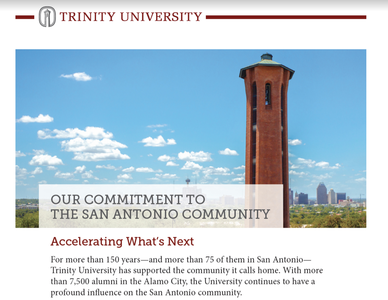 Trinity in the community